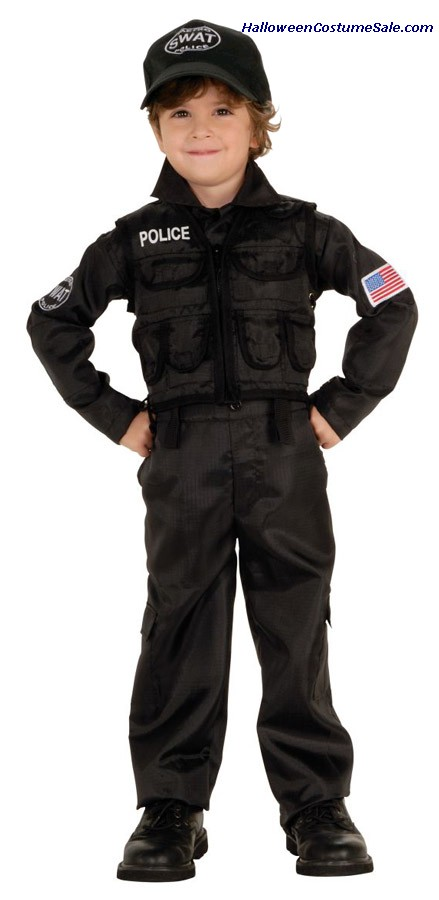 POLICEMAN SWAT CHILD/TODDLER COSTUME