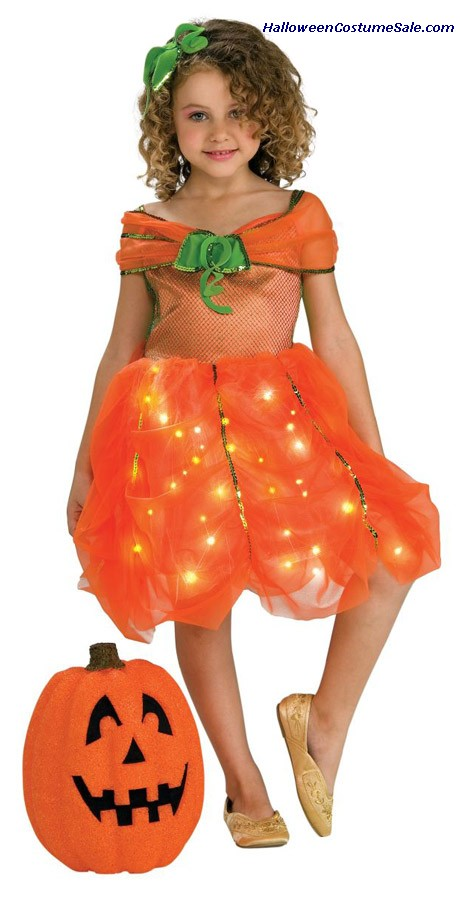 LITE UP PUMPKIN PRINCESS CHILD/TODDLER COSTUME