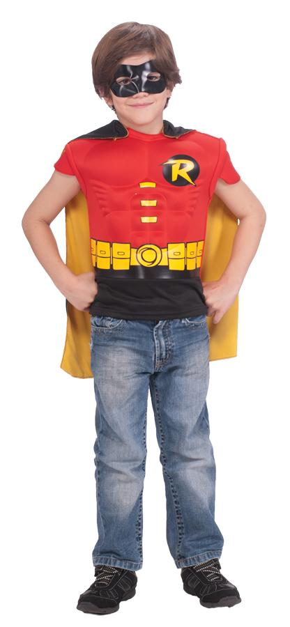 ROBIN MUSCLE SHIRT CAPE CHILD COSTUME