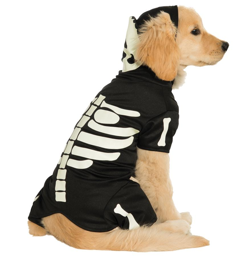 PET COSTUME BONES GLOWS