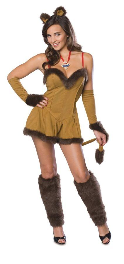 COWARDLY LIONESS SECRET WISH ADULT COSTUME