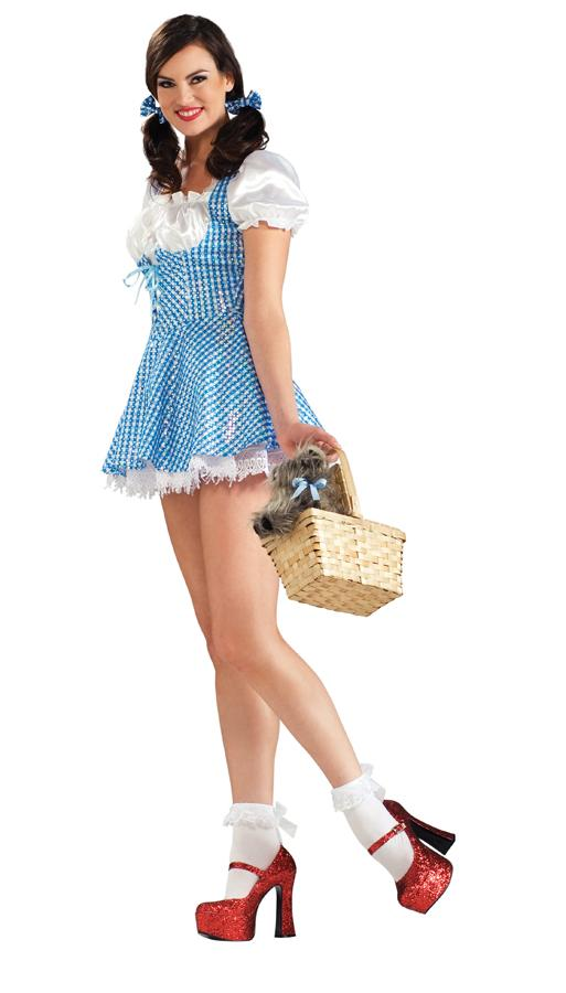 DOROTHY ADULT SEQUIN COSTUME