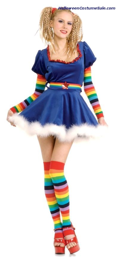 RAINBOW GIRL ADULT COSTUME