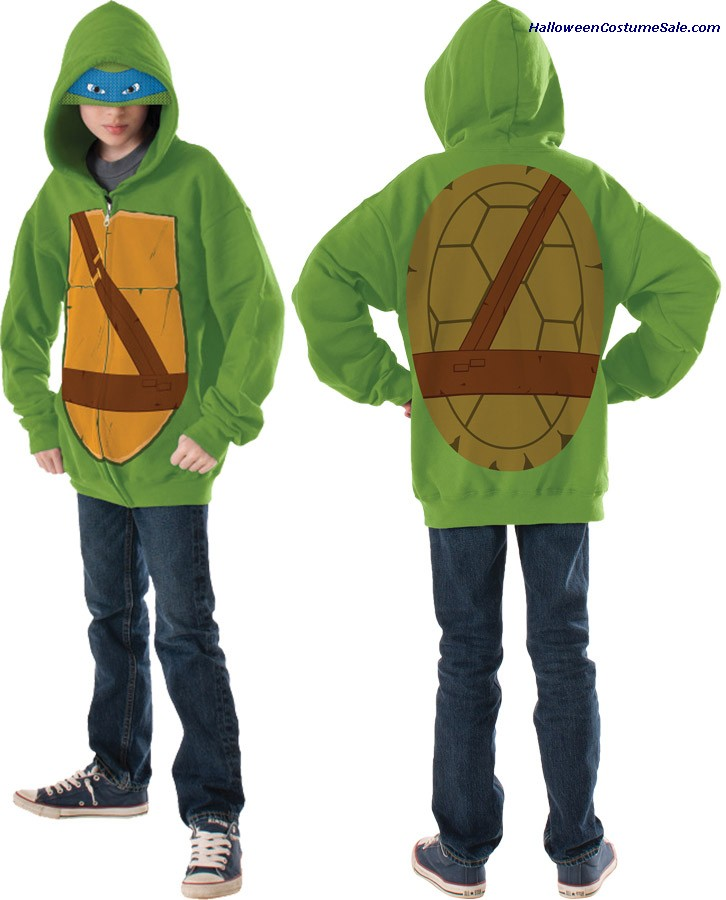MUTANT LEONARDO HOODIE CHILD COSTUME