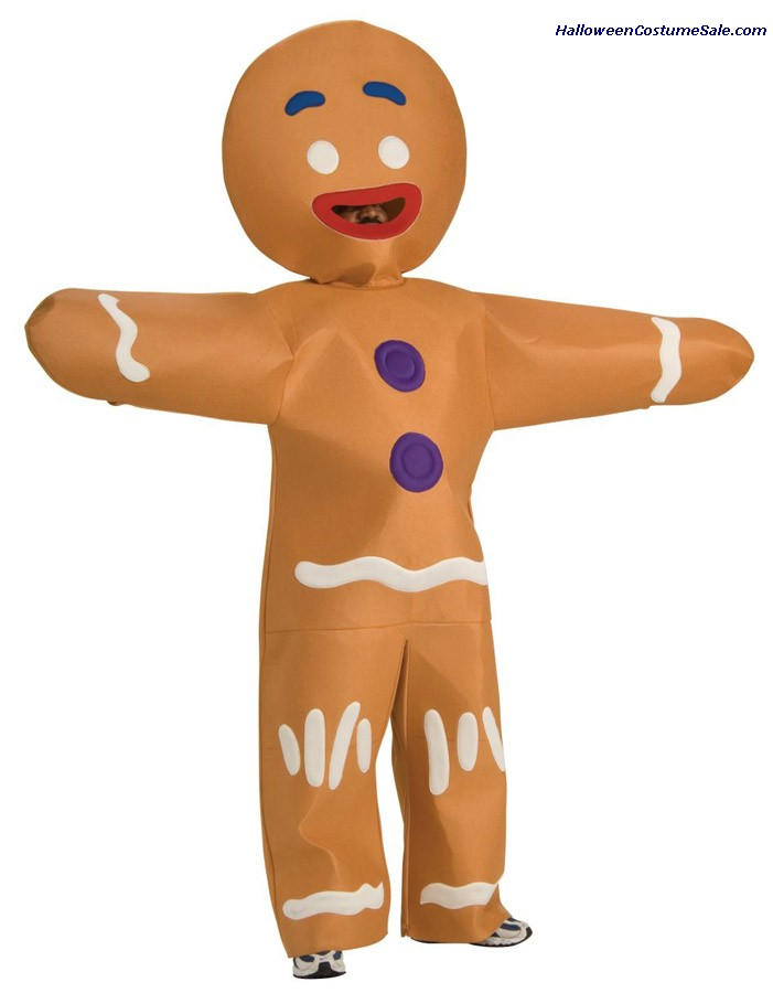 SHREK GINGERBREAD MAN ADULT COSTUME