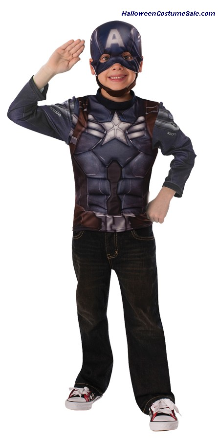 CAPTAIN AMERICA MUSCLE CHEST CHILD COSTUME