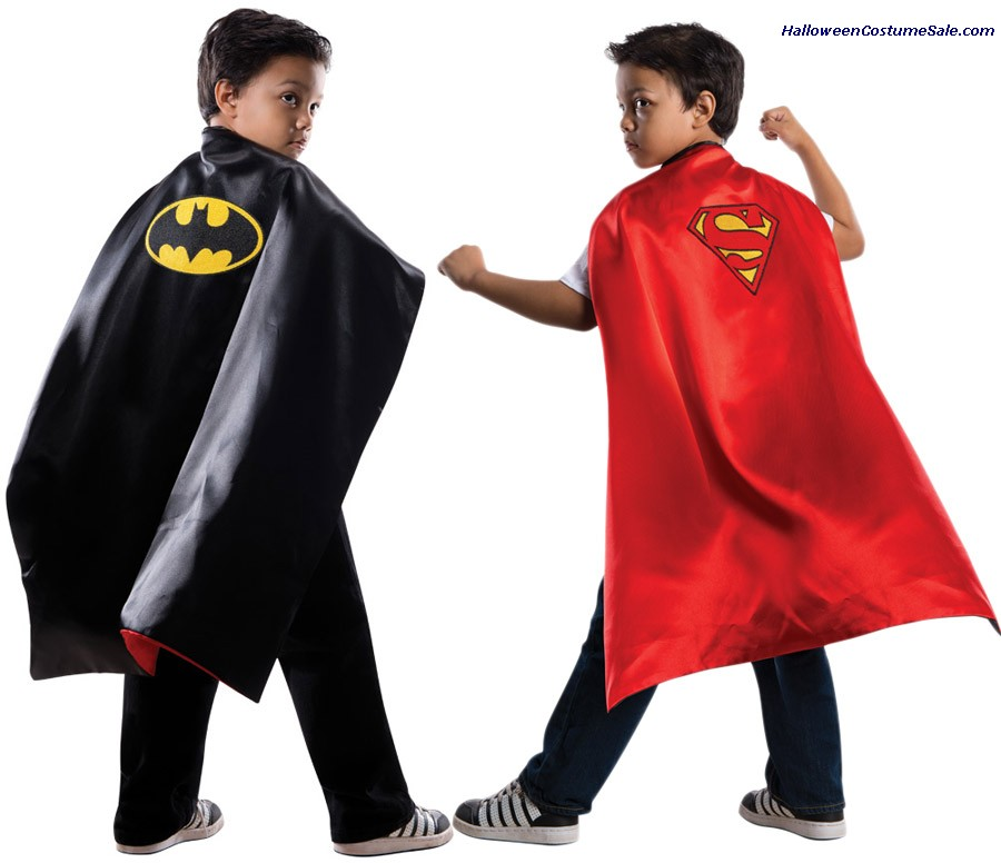 SUPER HERO CAPE REVERSBLE CHILD COSTUME