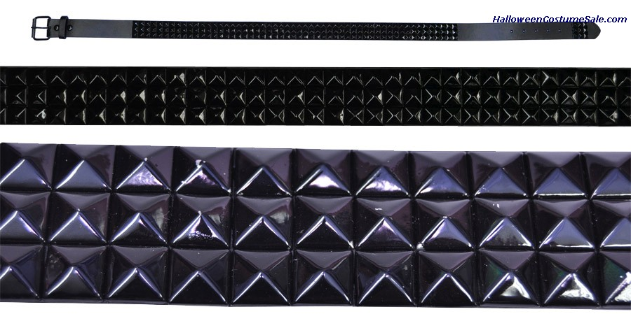 BELT 3 ROWS BLACK STUDS