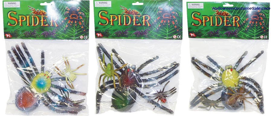 ASSORTED RUBBER SPIDERS