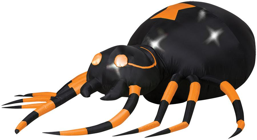 AIRBLOWN ANIMATED ORANGE SPIDER PROP