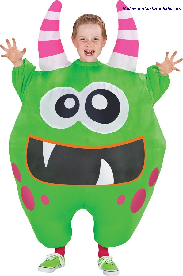 GREEN INFLATE CHILD SCAREBLOWN