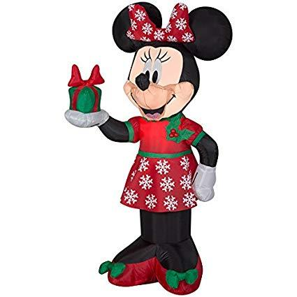 AIRBLOWN MINNIE WITH PRESENT