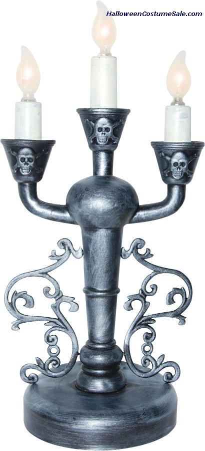 CANDLEABRA SILVER LED PROP
