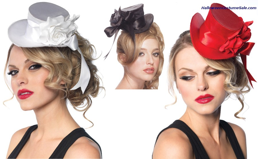 SATIN MINI TOP HAT