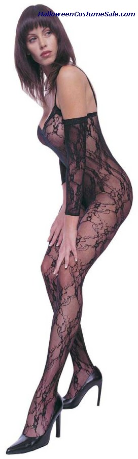 BODYSTOCKING STRETCH LACE BLA