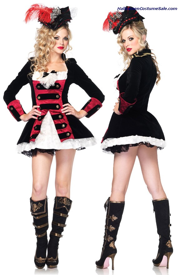 CHARMING PIRATE CAPTAIN ADULT COSTUME