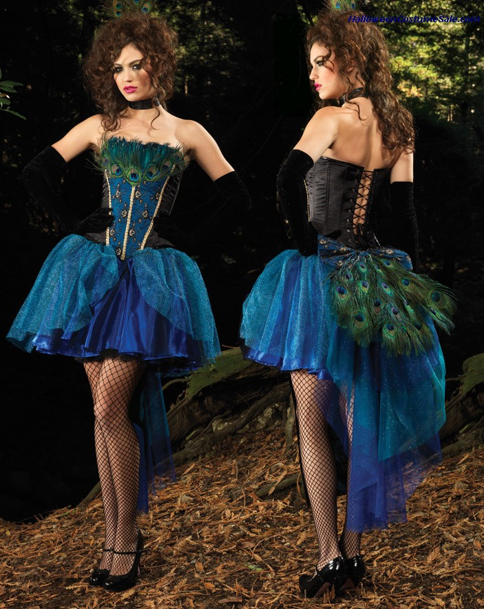DELUXE PEACOCK PRINCESS ADULT COSTUME