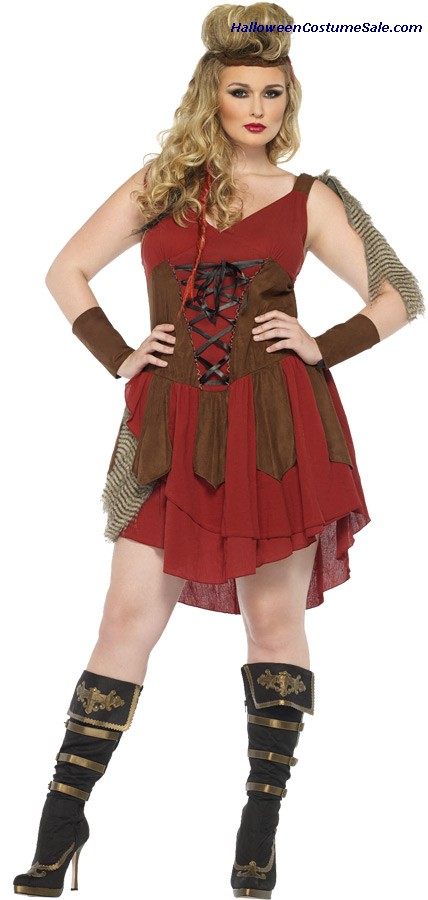 DEADLY HUNTRESS ADULT PLUS SIZE COSTUME