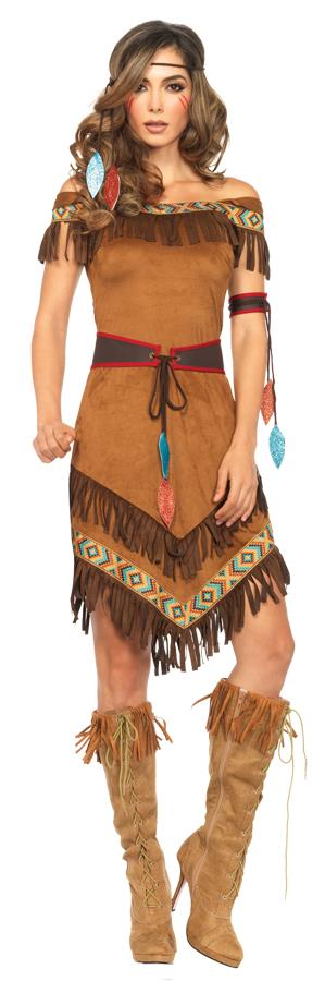 NATIVE PRINCESS 4 PC ADULT COSTUME