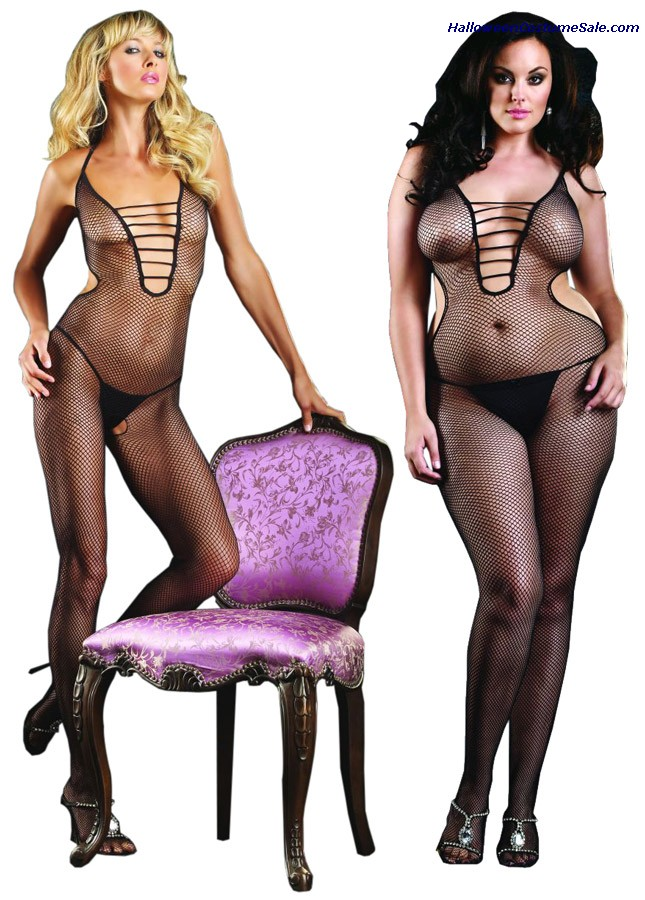 BODYSTOCKING FISHNET HALTER