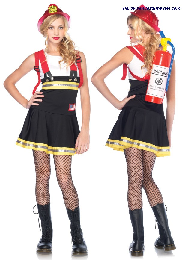 SWEETHEART FIREFIGHTER TEEN COSTUME