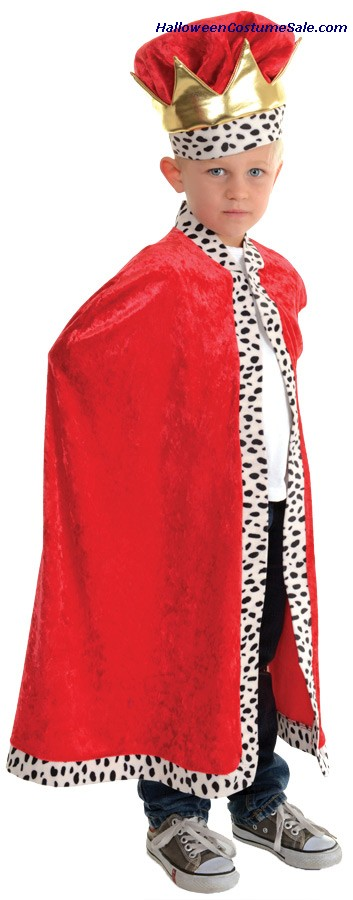 RED CAPE KING CHILD COSTUME