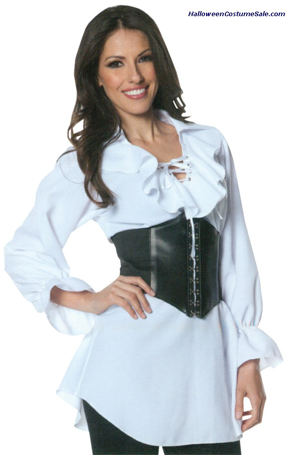 PIRATE LACED FRONT BLOUSE ADULT COSTUME