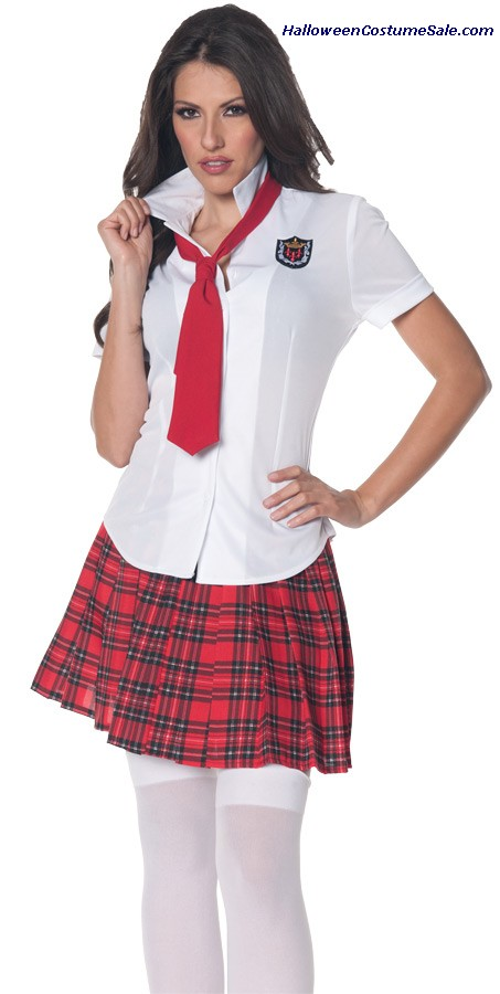 SCHOOL GIRL FITTED ADULT SHIRT