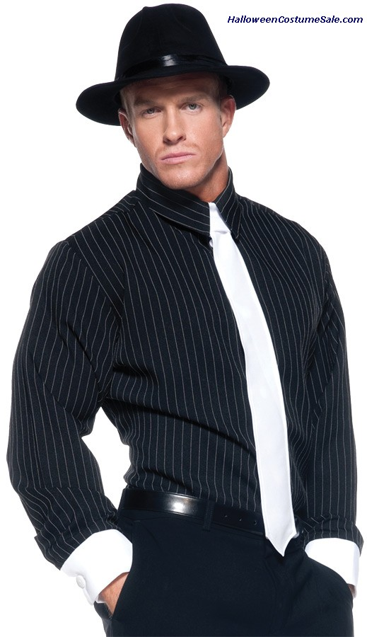 GANGSTER SHIRT STRIPED ADULT COSTUME