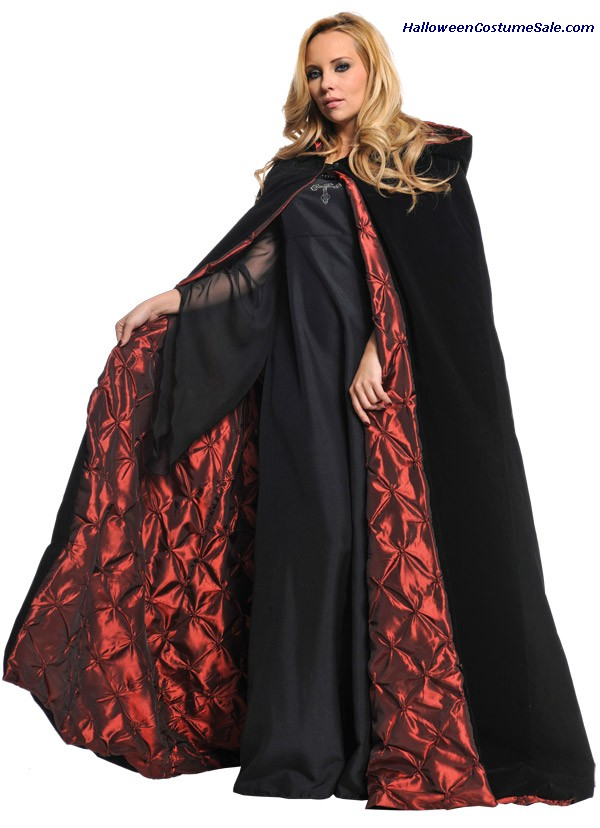 DELUXE VELVET CAPE WITH EMBROIDERY