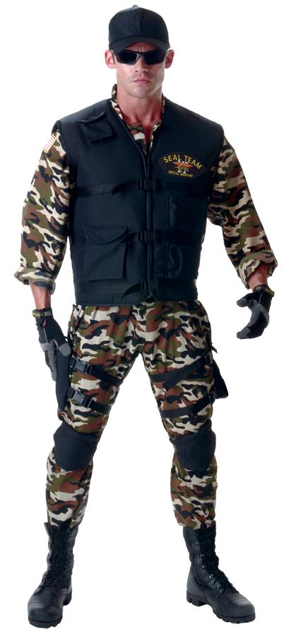 SEAL TEAM DELUXE PLUS SIZE ADULT COSTUME
