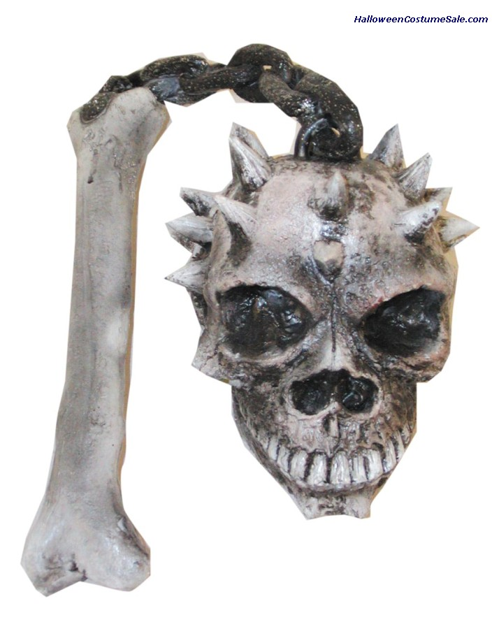 SKULL & BONE FLAIL, LATEX