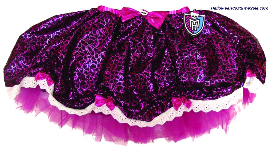 MONSTER HIGH BLACK & PINK CHILD PETTISKIRT