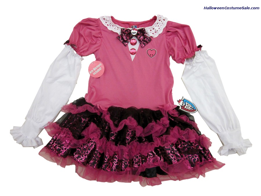MONSTER HIGH DRESS PINK CHILD COSTUME