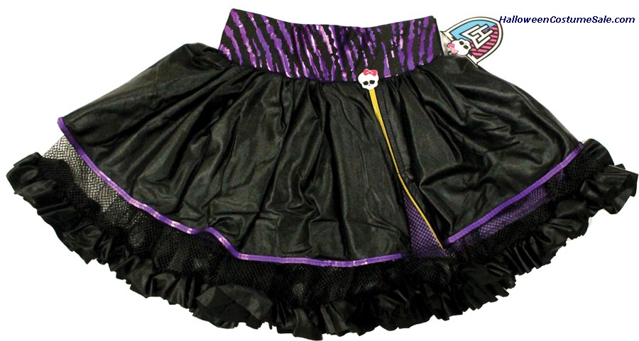 MONSTER HIGH BLACK & PURPLE CHILD PETTISKIRT