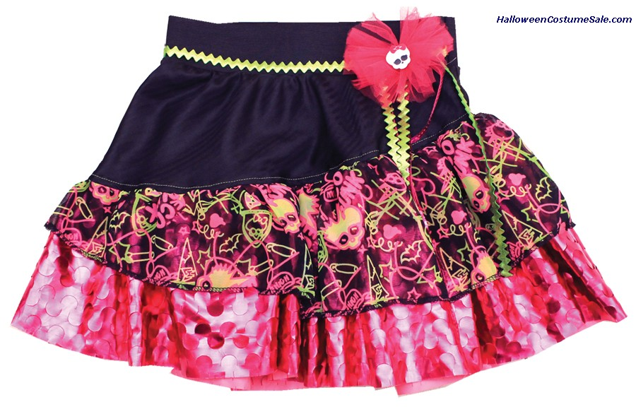 MONSTER HIGH PINK & BLACK CHILD PETTISKIRT