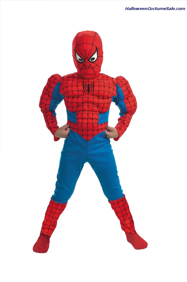 SPIDERMAN DELUXE MUSCLE CHEST COSTUME - CHILD SIZE