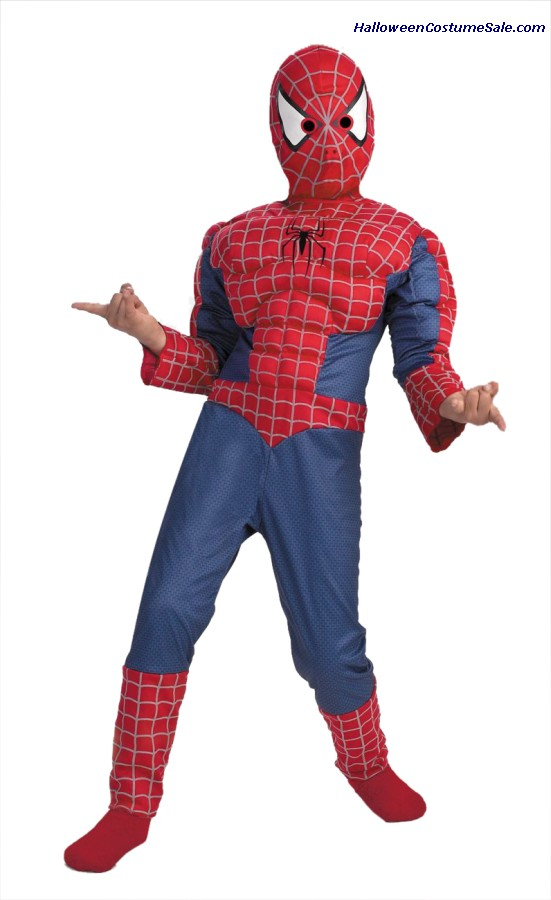 SPIDERMAN MUSCLE CHEST CHILD COSTUME