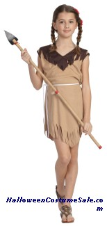 NATIVE INDIAN GIRL CHILD COSTUME