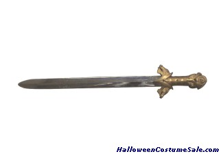 KNIGHT SWORD WITH GOLD HANDLE