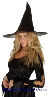 SPIDER WEB WITCH HAT