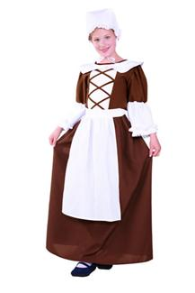 COLONIAL PEASANT TEEN COSTUME
