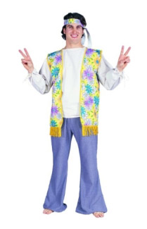 60S MALE FLOWER CHILD ADULT COSTUME