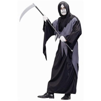 ADULT GRAY GRIM REAPER ADULT COSTUME