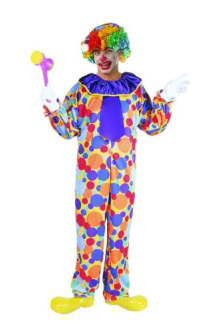 DOTS CLOWN ADULT COSTUME