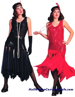 SCARF FLAPPER ADULT COSTUME