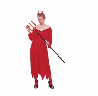 DELUXE DEVILINA ADULT COSTUME