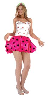STRAWBERRY PUFF ADULT COSTUME