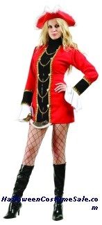 CAPTAIN TREASURE ADULT PLUS SIZE COSTUME