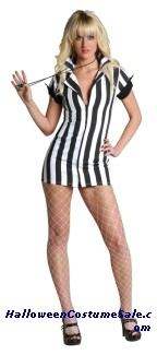 SEXY UMPIRE ADULT PLUS SIZE COSTUME